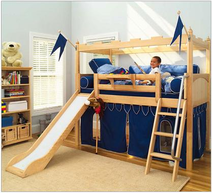 kids-bunk-bed-with-slide-camelot-castle