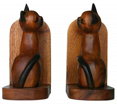 siamese-cat-bookends-made-from-thai-wood
