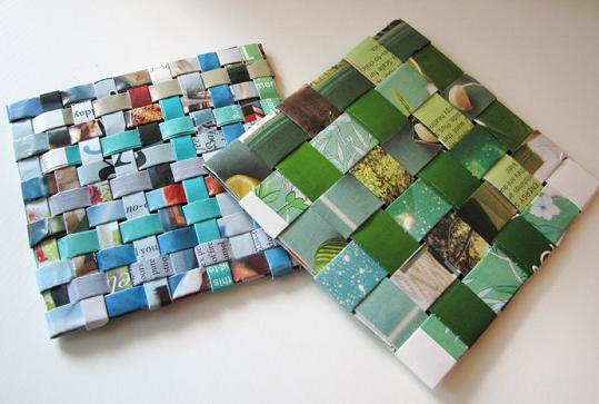 Handmade Coasters Made From Recycled Magazines - Home Interior ...
