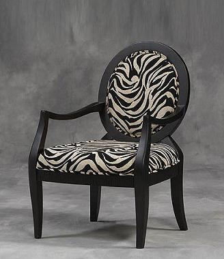 Merveilleux The Structural Shape Is The Main Thing I Like About This Zebra Print Chair.  A Wonderfully Circular Back Is Accompanied By Zebra Leg Shaped Arm Rests  Which ...