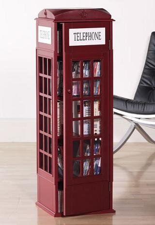 Superbe British Phone Booth Media Cabinet