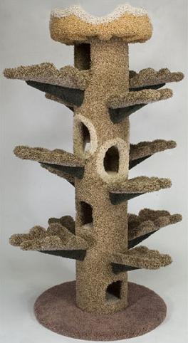 Cat Climbing Tower Shaped Like A Tree For Cool Cats Home