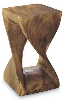 twisted-wood-stool-with-hourglass-appearance