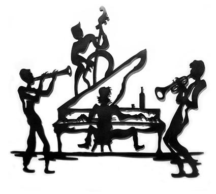 Home Interior Design Gallery on Funky Jazz Metal Wall Art Sculpture   Home Interior Design Themes