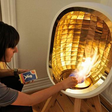 Ethanol Burning Indoor Piet Stove With Brass Reflector