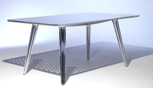 Medium image of aluminum colander shaped table