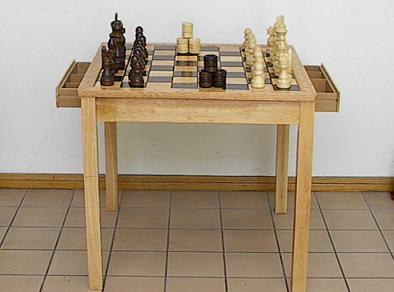 Chess and Checkers Board Game Table Set With Storage Drawers - Home ...
