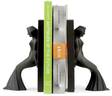 human-female-figurine-bookends-black-stone-resin