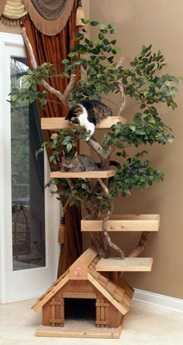 indoor-cat-tree-house-with-leaves