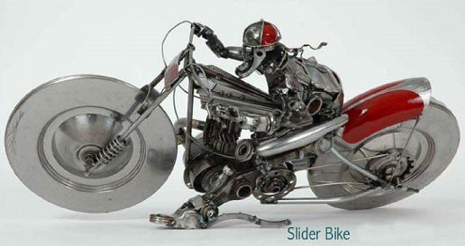 junk-car-metal-sculpture-of-biker