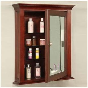 Simple Wooden Bathroom Medicine Cabinet