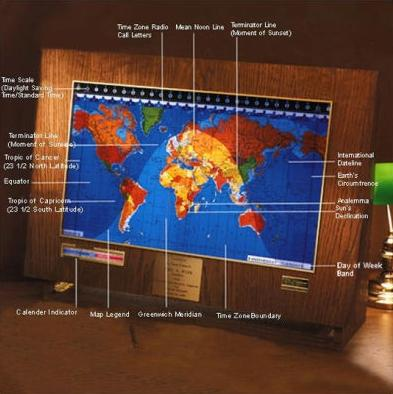 Kilburg geochron world clock featuring a map time zones and for gumiabroncs Images