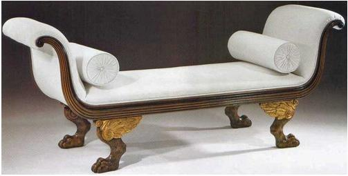 Italian Neoclassical Style Walnut Sofa With Antique Gold
