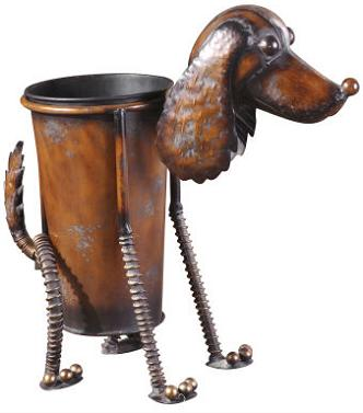 Cute Metal Dog Planter For Canine Loving Green Fingers Home Interior Design Themes
