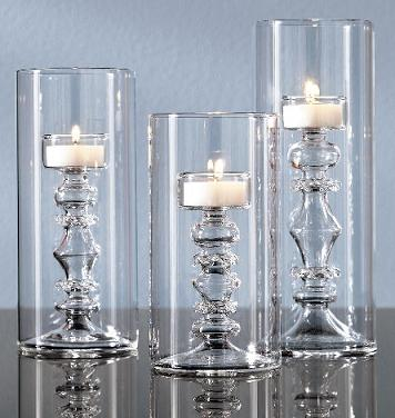 Tall Glass Tealight Candle Holders In The Shape Of