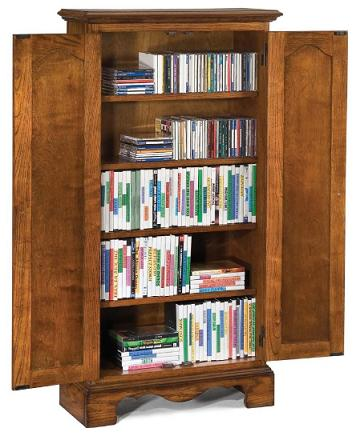 Tall Oak Wood Cd Dvd Media Storage