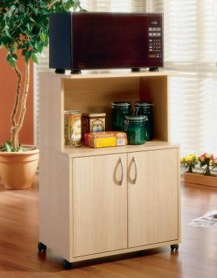 Microwave Carts with Storage