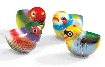 Magnetic Bird Paperclip Holders That Chirp When Moved - Home ...
