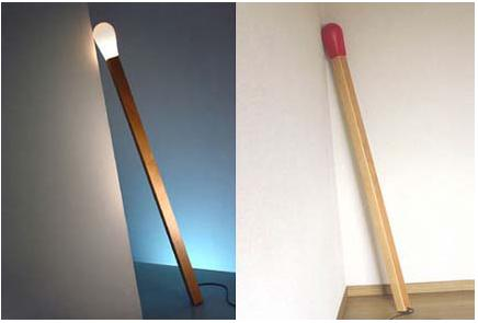 Matchstick Sculptural Floor Lamp for Leaning Against a Wall - Home ...
