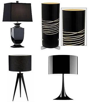Black table lamps online home interior design themes the aloadofball Image collections