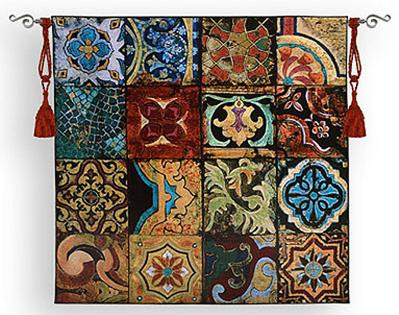 Colorful Arab Islamic Tapestry Wall Hanging Reminiscent of the Arabian