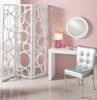 From First Glance The White Circles Room Divider