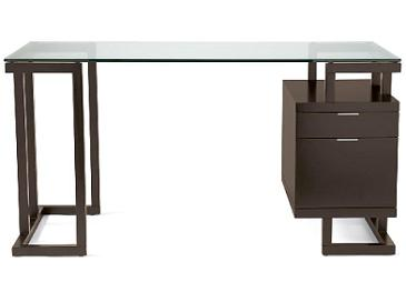 Exceptional The Modern Linear Shape Of This Home Office Desk With Glass Top ...