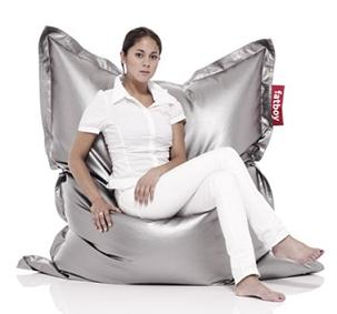 The Extra Large Silver Bean Bag Chair ...