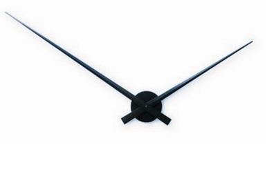 black hands wall clock without a face is simplicity in