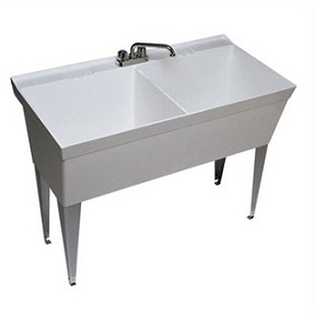 Free-Standing Double Bowl Laundry Sink Made From Veritek - Home ...