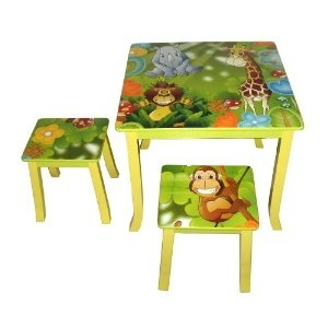 Jungle themed furniture Kid Home Interior Design Themes Wooden Jungle Themed Table And Chair Set For Kids Home Interior
