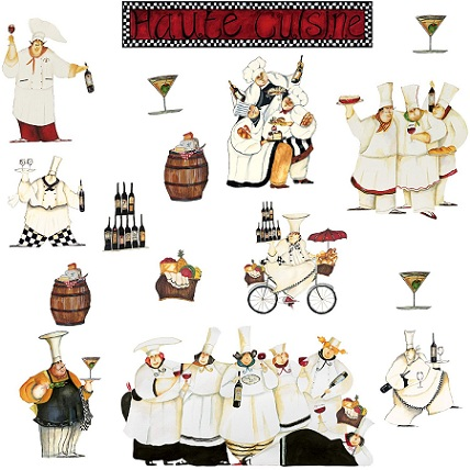 Chef Kitchen Design on French Chef Kitchen Decor  Chef Statues  Restaurant Kitchen Decor Art