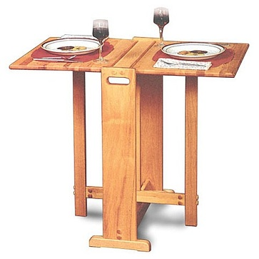 Fold away butcher block eating table for small spaces for Small eating table